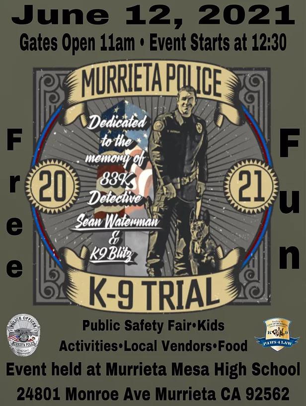 4th Annual MPD K9 Trials Flyer 2021
