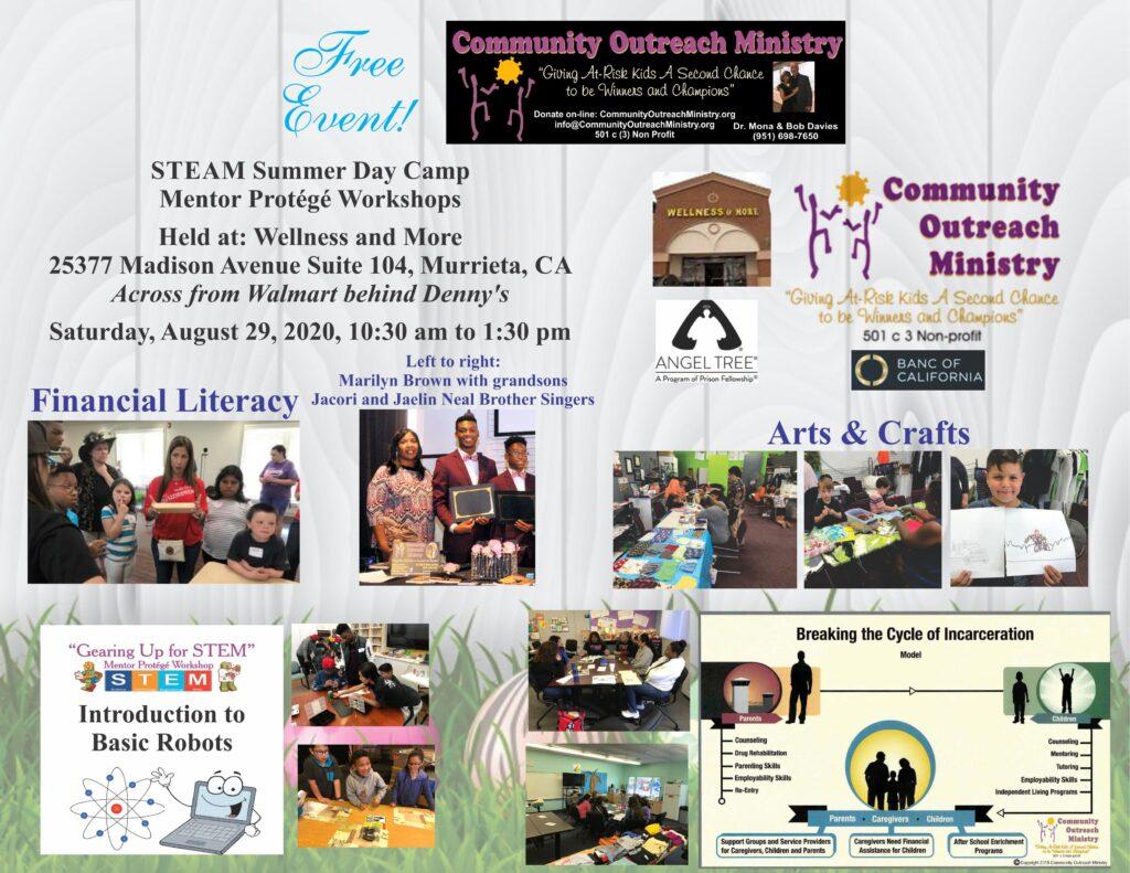 STEAM Summer Day Camp Mentor Protégé Workshops