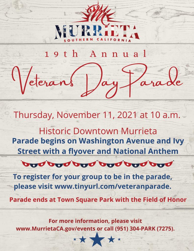 Veterans Day Parade 2021